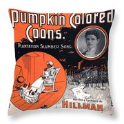 Vintage Sheet Music Cover Circa 1896 Throw Pillow by M Witmmark and Sons