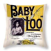 Vintage Sheet Music Cover  Circa 1898 Throw Pillow