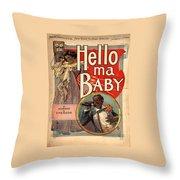 Vintage Sheet Music Cover Circa 1900 Throw Pillow