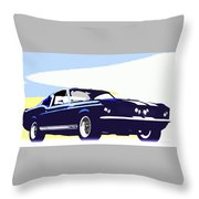 Vintage Shelby Gt500 Throw Pillow