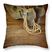 Vintage Shoes And Pearls Throw Pillow