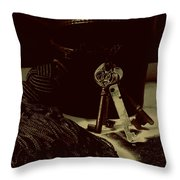 Vintage Skeleton Keys _tassle Nbr 3 Throw Pillow