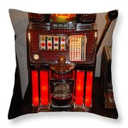 Vintage Slot Machine 25 Cents Throw Pillow