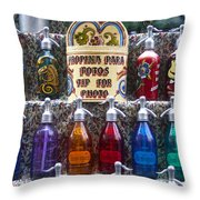 Vintage Soda Siphons Throw Pillow