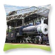 Vintage Steam Locomotive 5d29281 V2 Throw Pillow