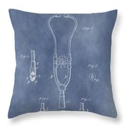 Vintage Stethoscope Patent Throw Pillow