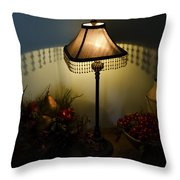 Vintage Still Life And Lamp Throw Pillow