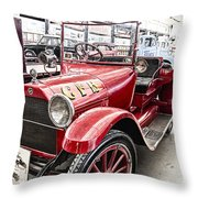 Vintage Studebaker Fire Engine Throw Pillow