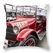 Vintage Studebaker Fire Engine Throw Pillow by Douglas Barnard