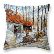Vintage Sugar Shack By Prankearts Throw Pillow