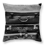 Vintage Suitcases Throw Pillow