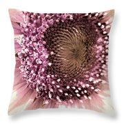 Vintage Sunflower  Throw Pillow