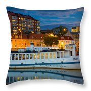 Vintage Swedish Ferry Throw Pillow by Inge Johnsson