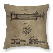Vintage Syringe Patent Drawing Throw Pillow