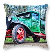 Vintage Tanker 1 Throw Pillow