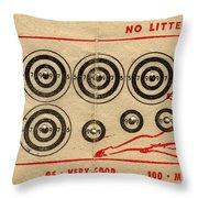 Vintage Target Card Throw Pillow