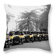 Vintage Taxis 3 Throw Pillow