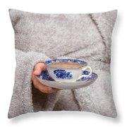 Vintage Teacup Throw Pillow