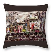 Vintage -temples  Throw Pillow