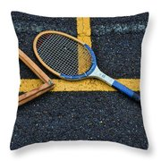 Vintage Tennis Throw Pillow by Paul Ward