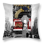 Vintage Times Square 1 Throw Pillow