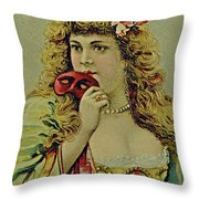 Vintage Tobacco Or Cigarette Card Throw Pillow