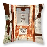 Vintage Tokheim Gas Pump Throw Pillow