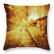 Vintage  Railway Portland Pa Usa Throw Pillow
