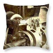 Vintage Train Wheel Throw Pillow