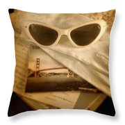 Vintage Travel Throw Pillow