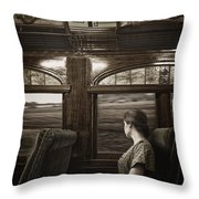 Vintage Travels Throw Pillow