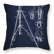 Vintage Tripod Patent Drawing From 1941 Throw Pillow