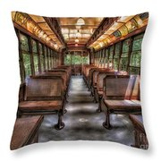 Vintage Trolley No. 948 Throw Pillow