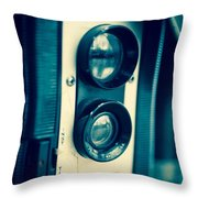 Vintage Twin Lens Reflex Camera Throw Pillow by Edward Fielding
