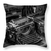 Vintage Typewriter Throw Pillow by Adrian Evans