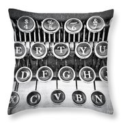 Vintage Typewriter Throw Pillow by Edward Fielding