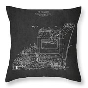 Vintage Typewriter Patent From 1918 Throw Pillow by Aged Pixel