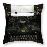 Vintage Typewriter Mechanical Throw Pillow