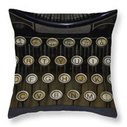 Vintage Typology Throw Pillow by Heather Applegate