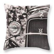 Vintage V8 Throw Pillow