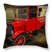 Vintage Van Throw Pillow by Adrian Evans