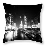 Vintage Vancouver 1951 Throw Pillow