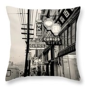 Vintage Vancouver Chinatown 1961 Throw Pillow