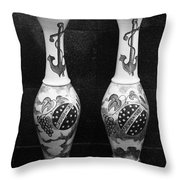 Vintage Vases Throw Pillow