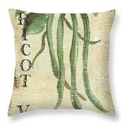 Vintage Vegetables 2 Throw Pillow by Debbie DeWitt
