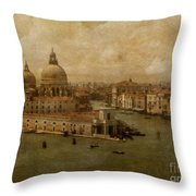 Vintage Venice Throw Pillow by Lois Bryan