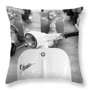 Vintage Vespa Throw Pillow