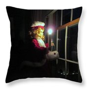 Vintage Victorian Christmas Doll Throw Pillow