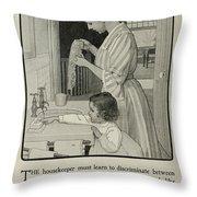 Vintage Victorian Soap Advert Throw Pillow