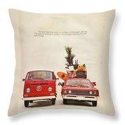 Vintage Volkswagen Camper Van  Throw Pillow